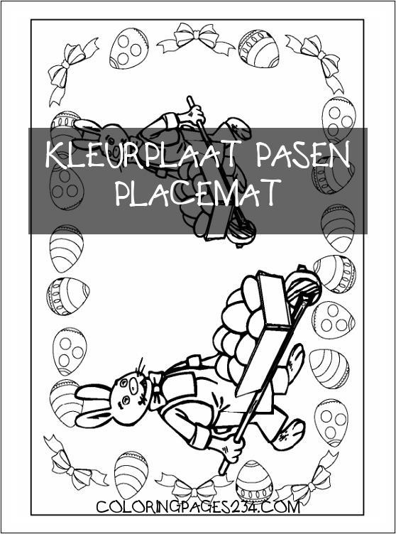 Pin op Pasen kleurplaat pasen placemat, source:pinterest.nz