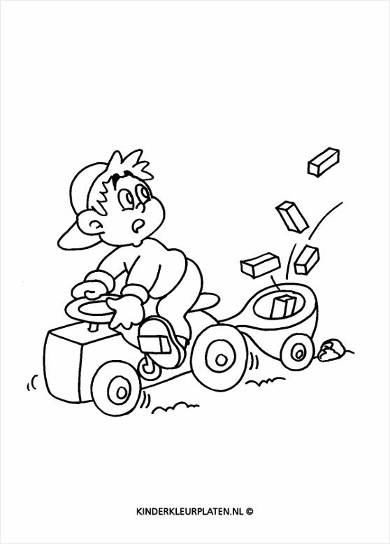 kleurplaat tractor kleurplaten234 kleurplaten234