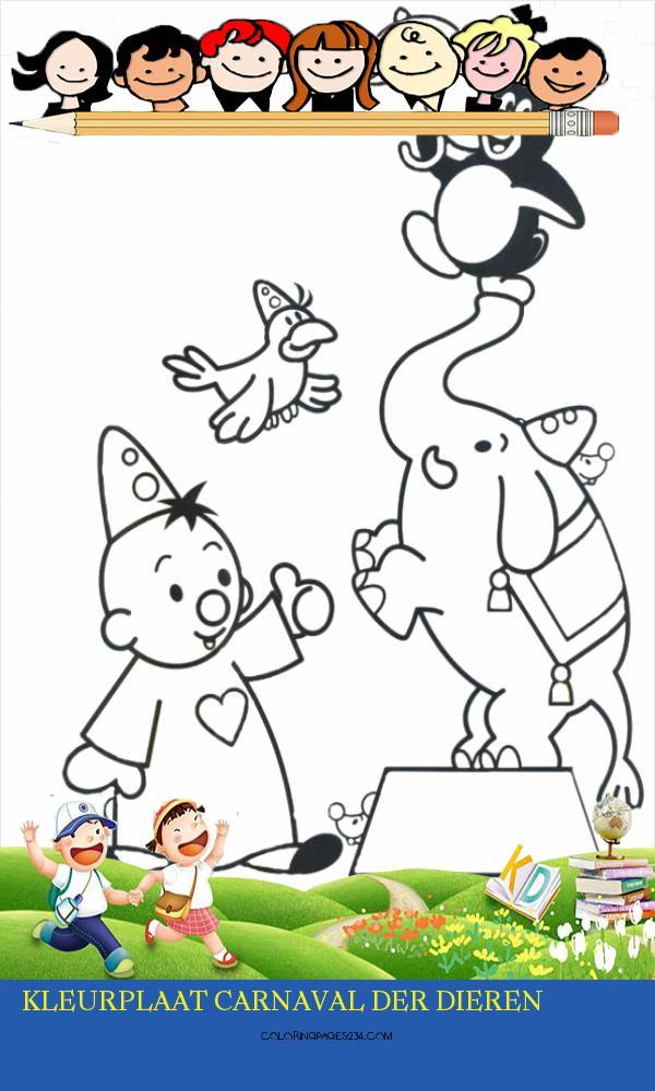 kleurplaat carnaval der dieren kleurplaten234