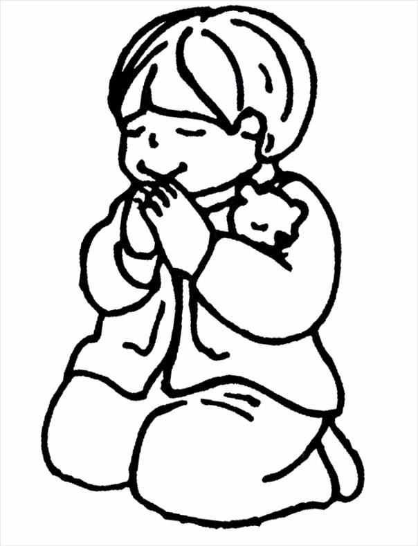kleurplaat bijbel nieuwe testament biddend jongen iorfe
