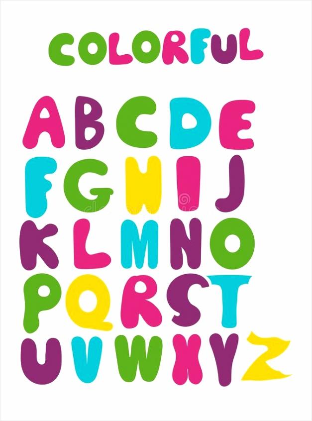 vector grappig tekenfilm met de hand ekend markeerteken kleurrijk alfabet hoofdletters verschillende kleuren uytto