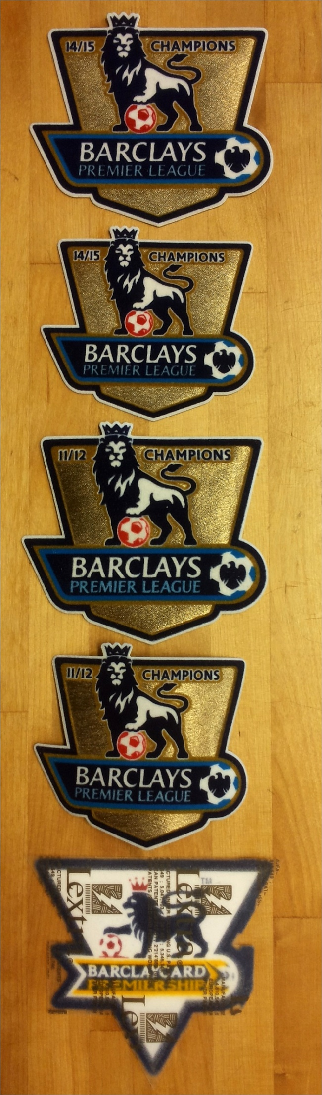 EPL champs badges timeline 1992 2016 tioou