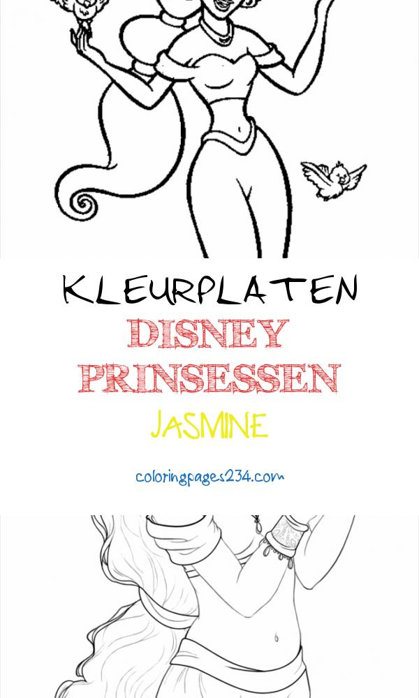 Free Printable Disney Princess Coloring Pages For Kids kleurplaten disney prinsessen jasmine, source:pinterest.com