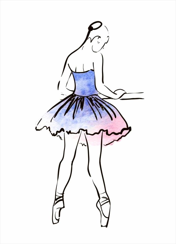 depositphotos stock illustration hand drawing ballerina figure aieru