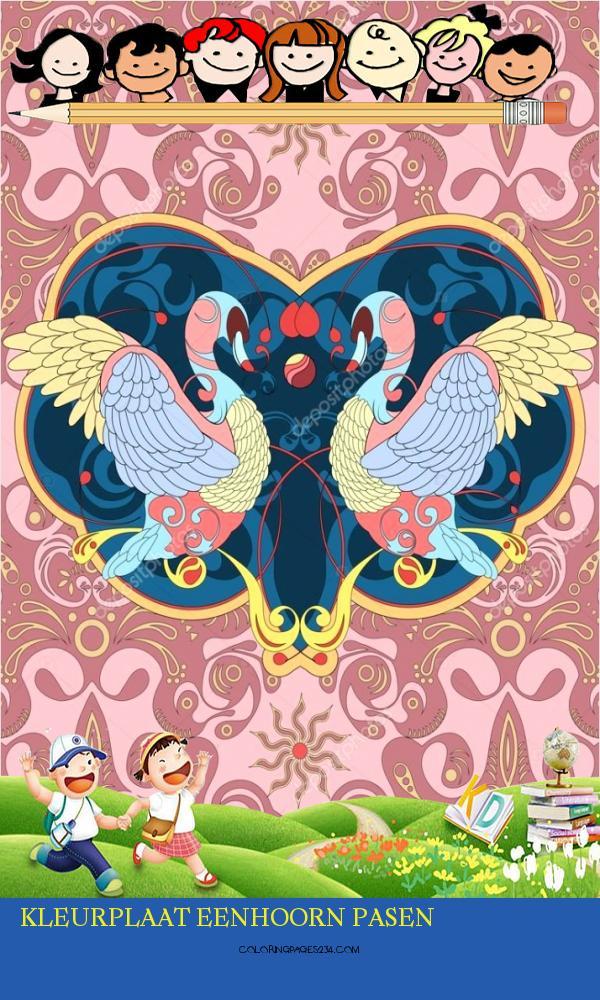 elegante zwaan kleurplaat — Stockvector © kchungtw kleurplaat eenhoorn pasen, source:nl.depositphotos.com