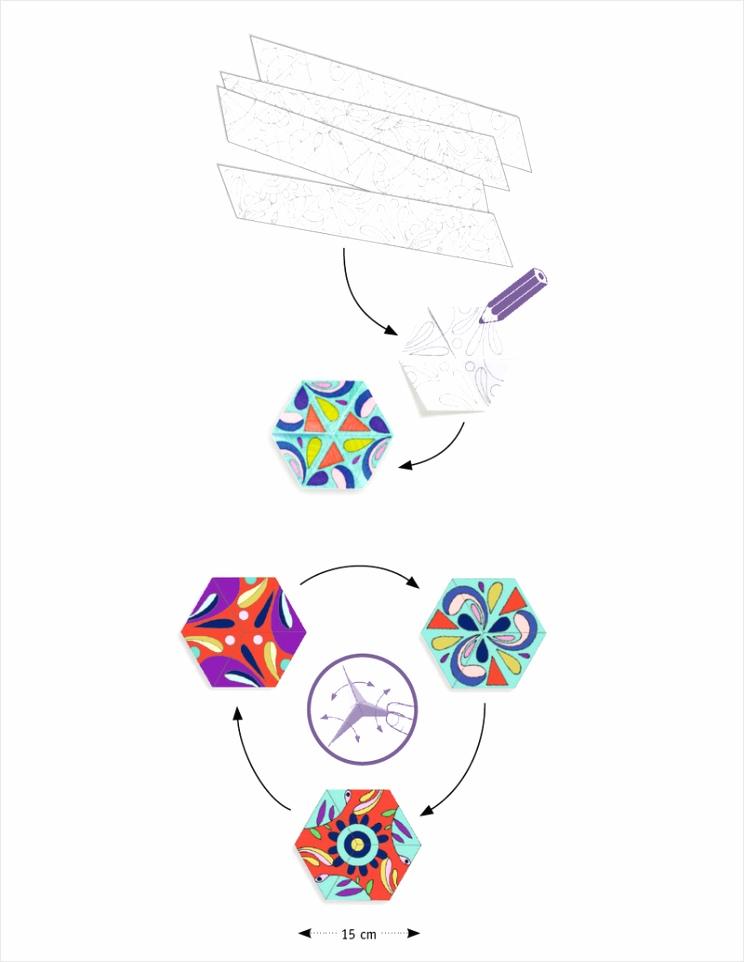 djeco kleurplaten mandalas in bloemvorm djeco aayrw