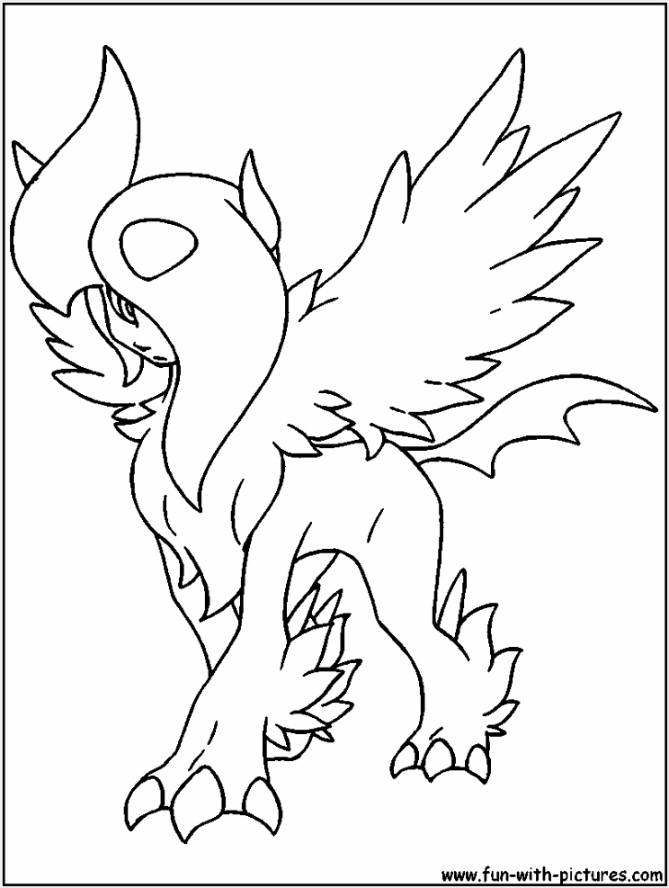 mega absol coloring page aoupy