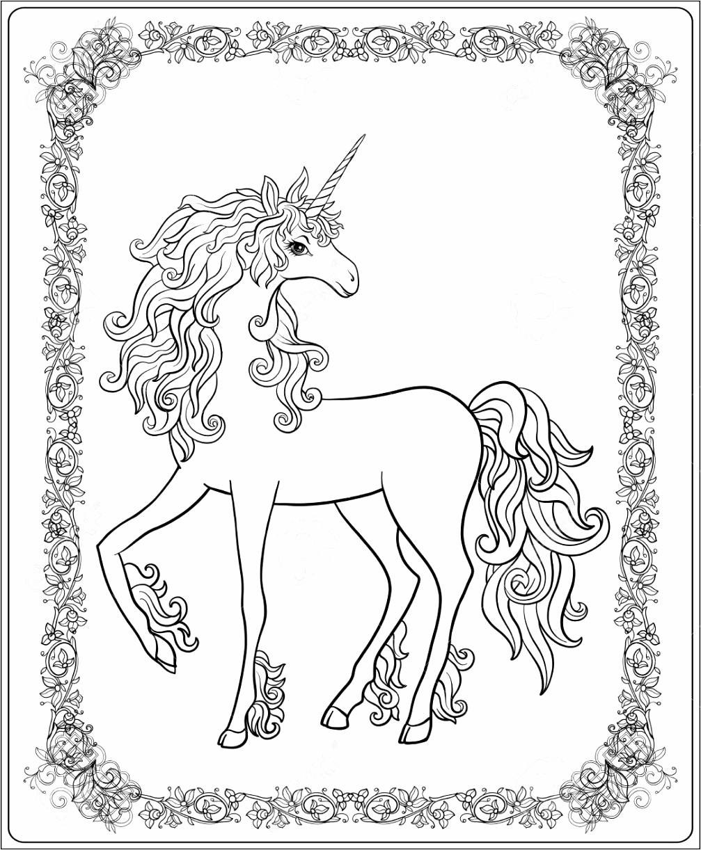 photo stock vector unicorn in the frame arabesque in the royal me val style outline drawing coloring page coloring bo rowee