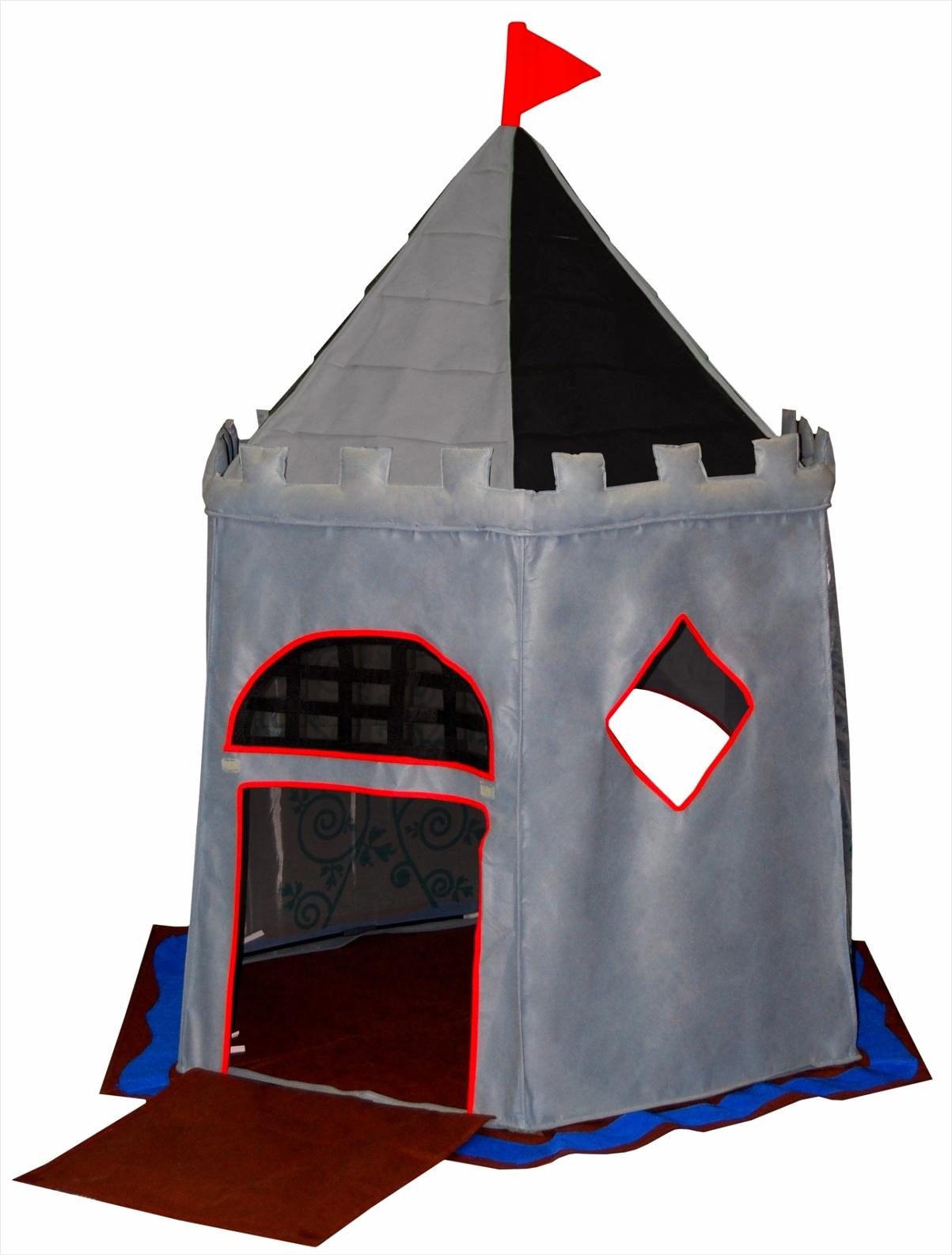 bazoongi kids speeltent kasteel 125 x 168 cm grijs ayaee