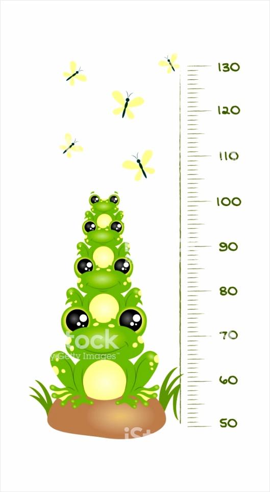 vector muur meetlat versierd met cartoon kikkers insecten en cijfers illustratie in gm uriea