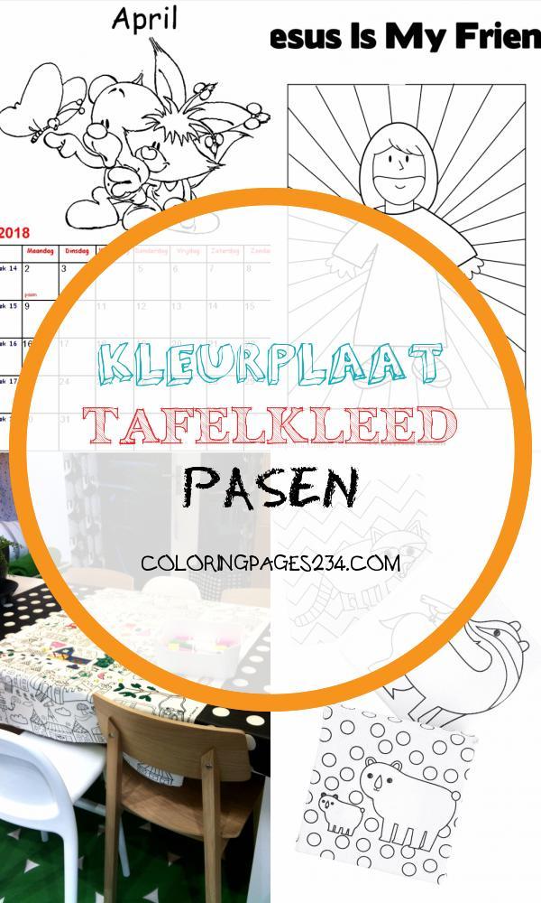 kleurplaat tafelkleed pasen coloringpages234