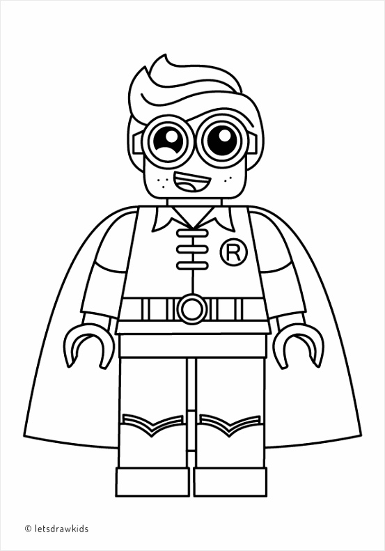 Lego Superman And Batman Coloring Pages coloring page for kids lego robin from the lego batman Coloring And Batman Superman Pages Lego afeue