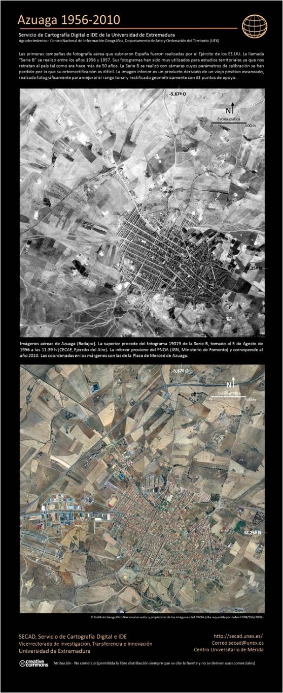 Pueblos extremeos en el tiempo 1945 1956 2011 aitee