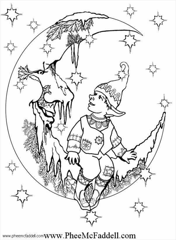 kleurplaat Kleine Elf 2 i6106 repam