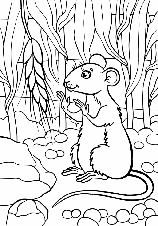 depositphotos stock illustration little cute mouse looks at tatot