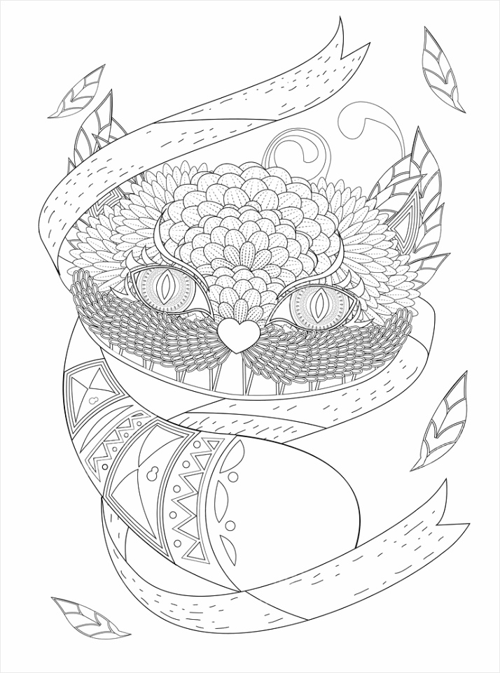 depositphotos stock illustration smile cat coloring page eoieo