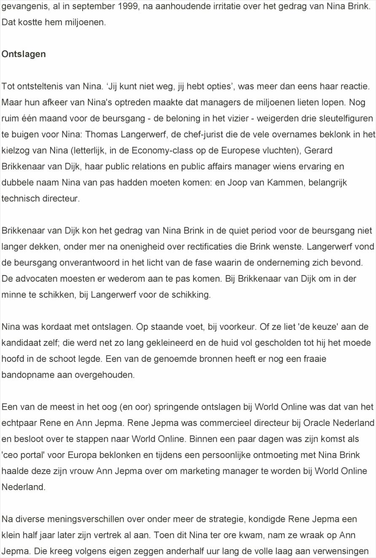 Gepubliceerd 14 jaar na de beursgang en 9 5 jaar na het vonnis van de rechtbank amsterdam in de door brink aangespannen rechtszaak yyapt