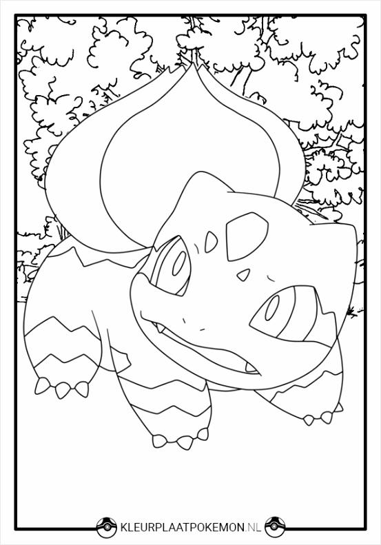 kleurplaat bulbasaur 2 pideo