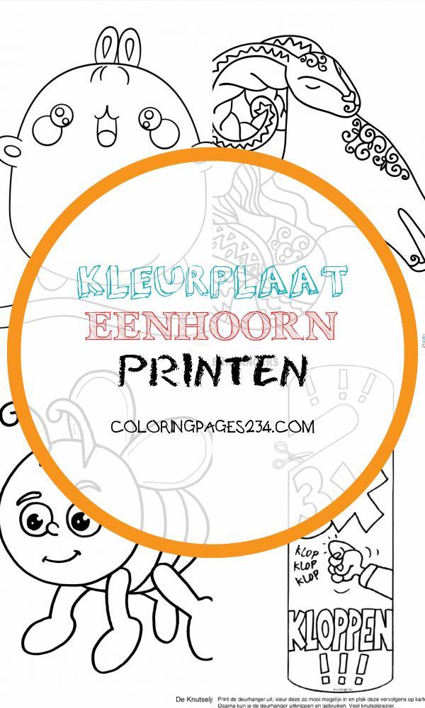 Kleurplaat Deurhanger 3x KLOPPEN Kleurplaten kleurplaat eenhoorn printen, source:pinterest.com