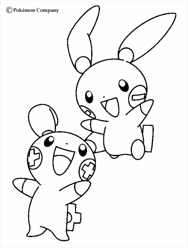 4c66e09b2f6e134d49f be plusle and minun coloring pages hellokids 651 850 iouht