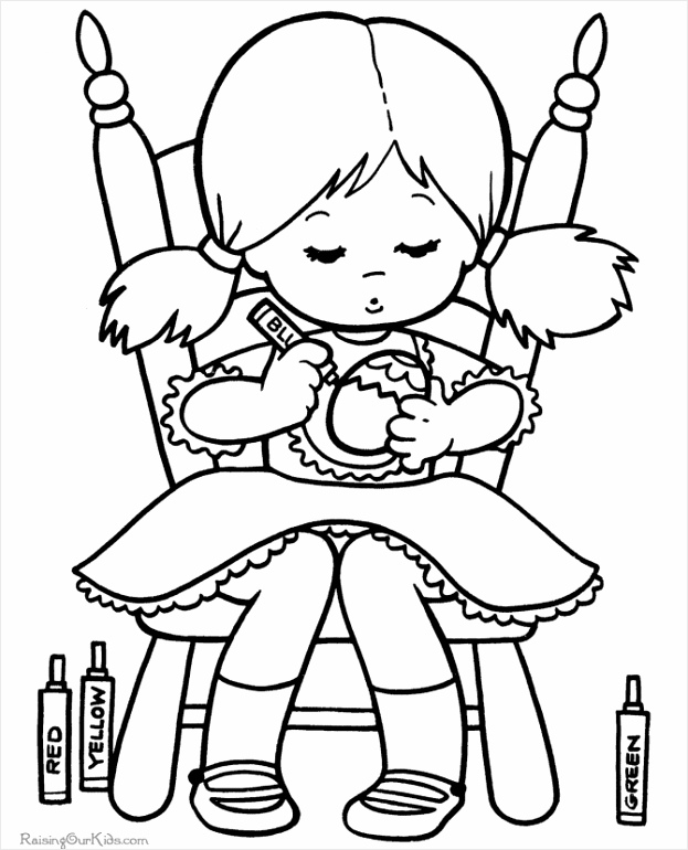 011 colouring pages kid easter tteau