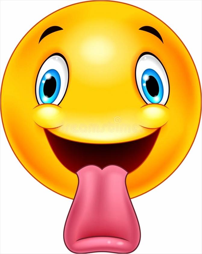 beeldverhaal emoticon uit een tong plakken uyoap