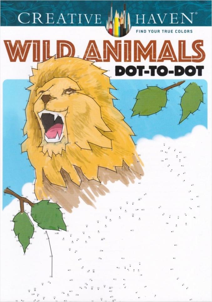 puzzel kleurboek van punt tot punt wild animals awapt