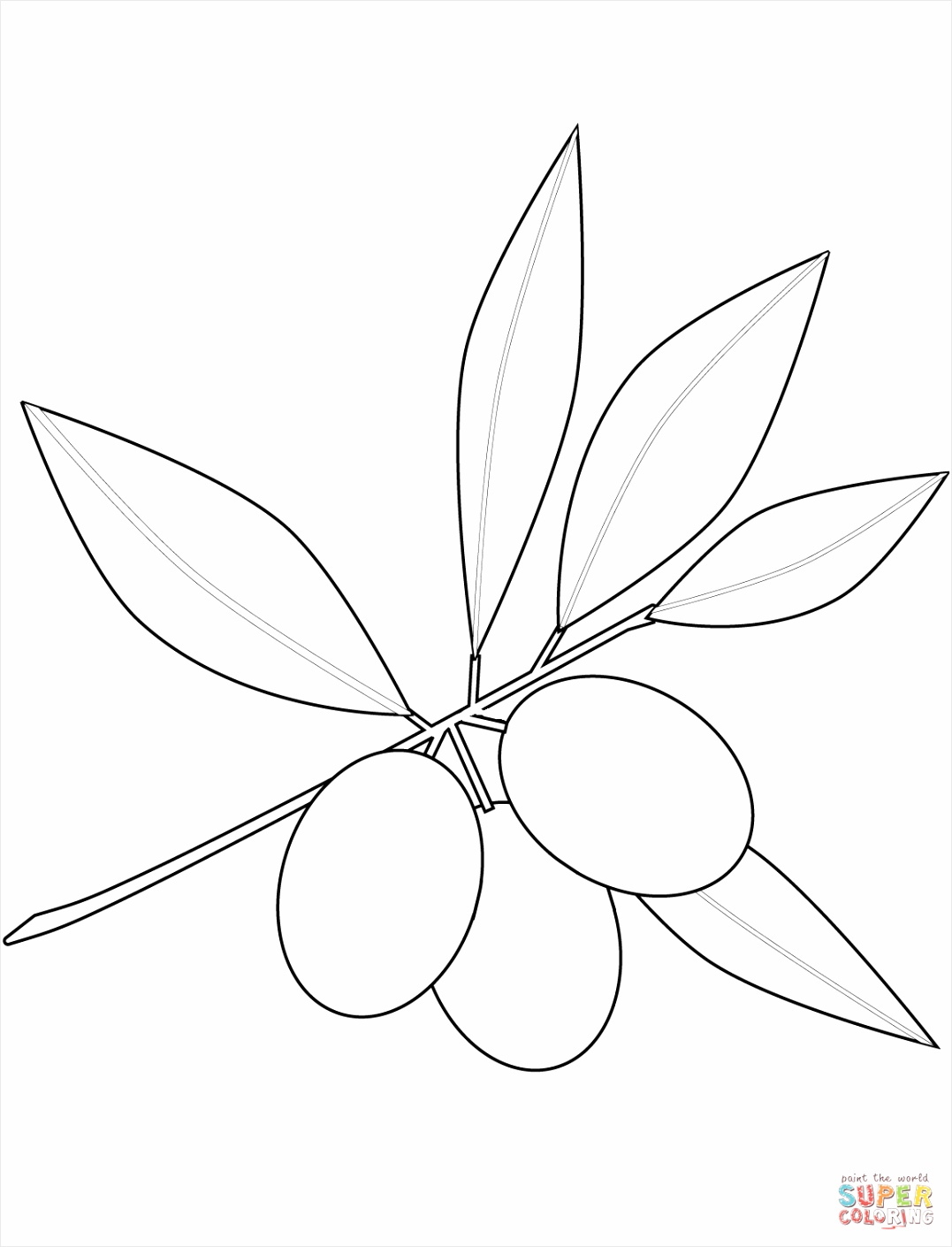 olives coloring page uaaex