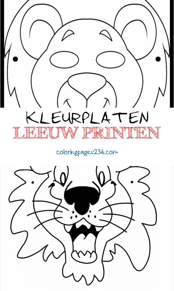 kleurplaten leeuw printen kleurplaten234