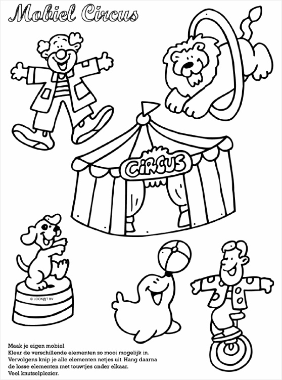 kleurplaten printen circus kleurplaten234