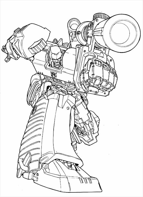 Megatron Amazing Bazooka Coloring Page tatao