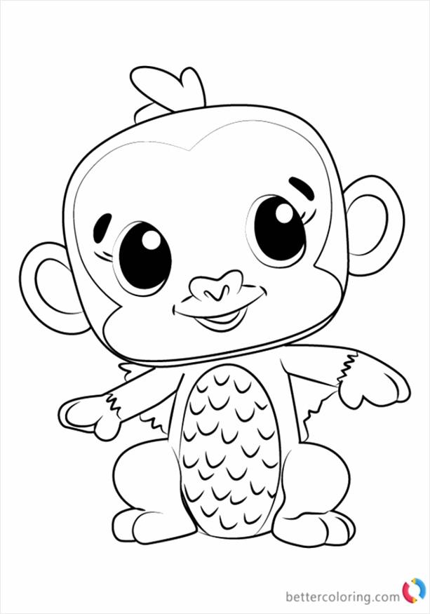 Hatchimals coloring pages Monkiwi 1 rtpar
