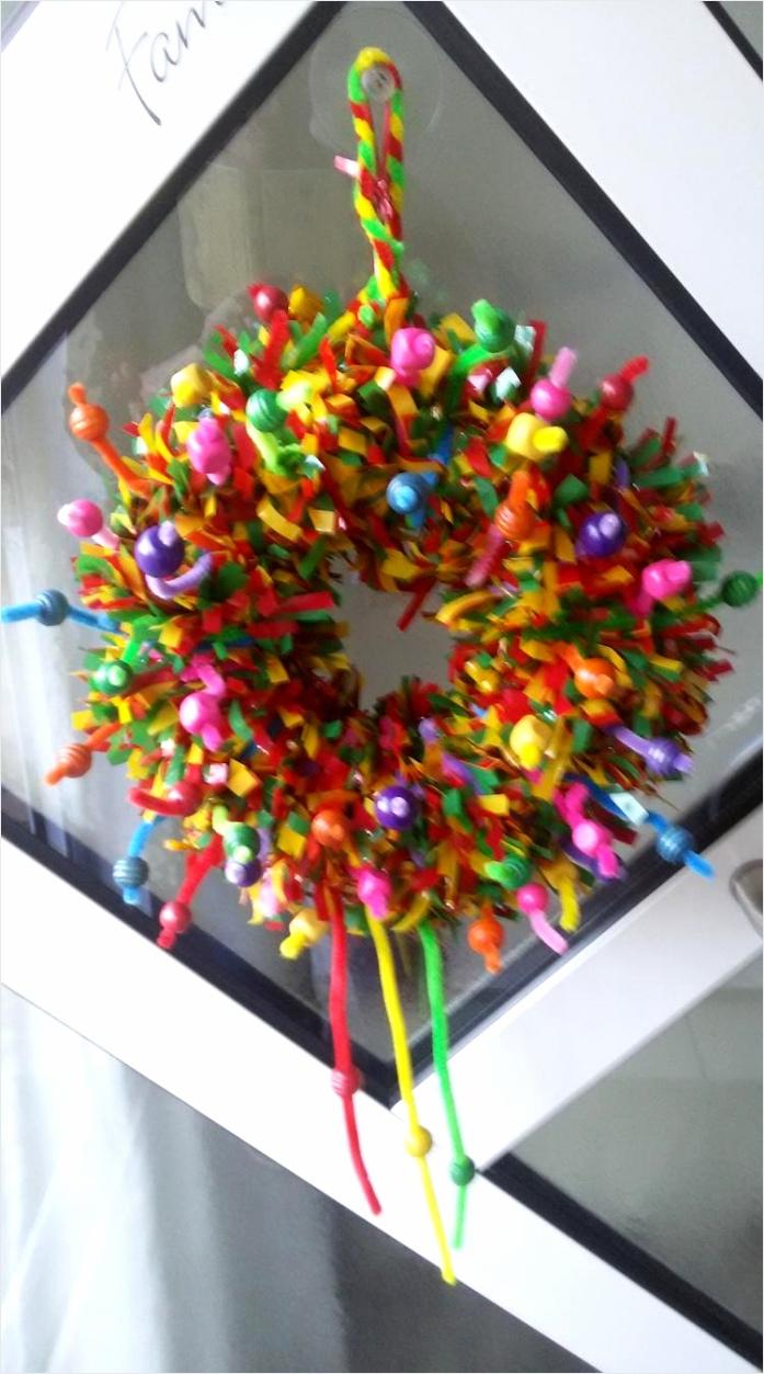 Deurkrans voor de Carnaval van Eedsje ruriu