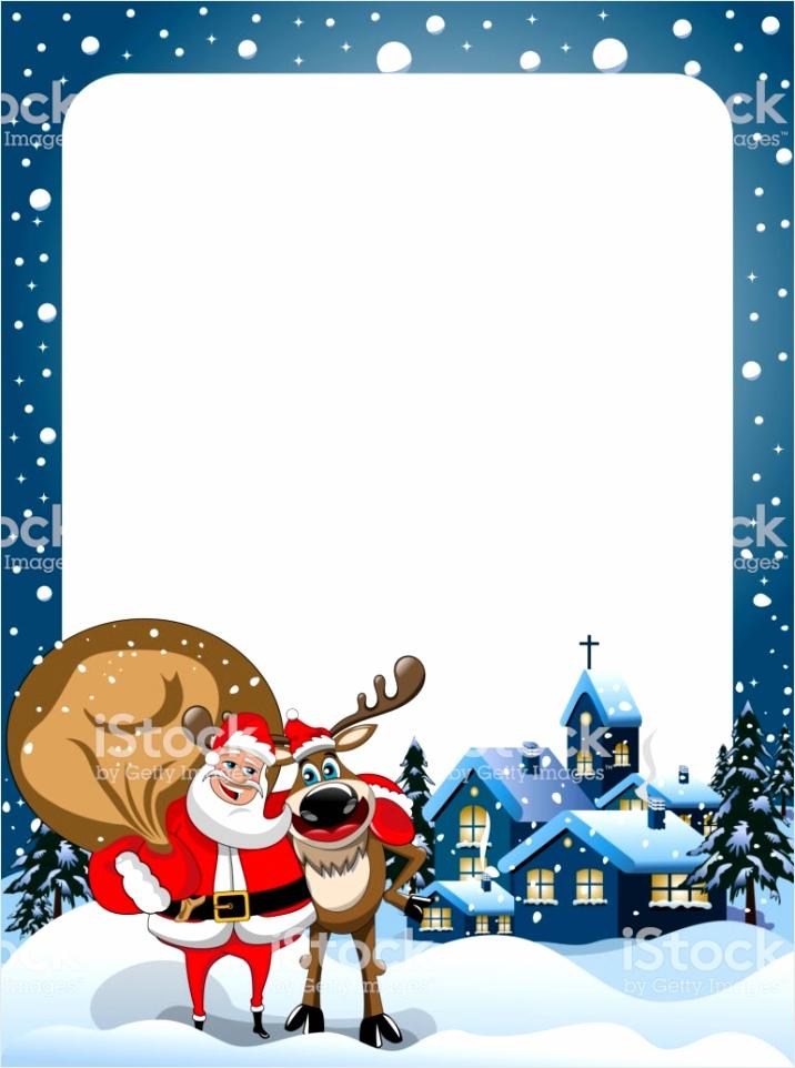xmas frame met ren ren en de kerstman knuffelen in de sneeuw s nachts xmas gm yotee