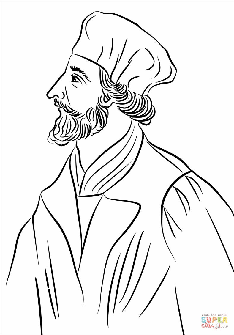 jan hus coloring page aaiap