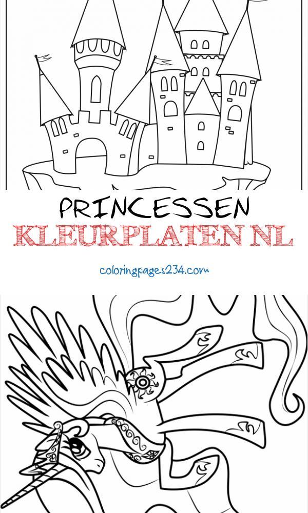 Kleurplaat voor kinderfeestje princessen kleurplaten nl, source:kinderfeestmoment.nl
