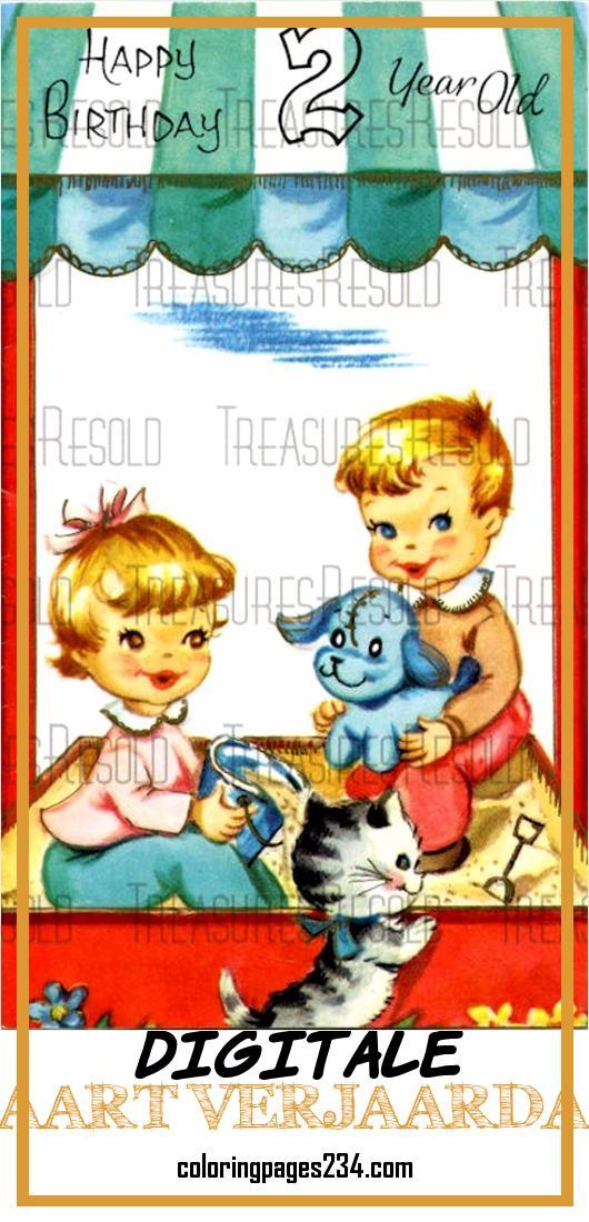 Tbgcne 57311 V6w5tzbeshwgaytxg Digitale Kaart Verjaardag Happy Birthday 2 Jarige Jongen En Meisje In Sandbox Kaart 221 Digitale Download 928530