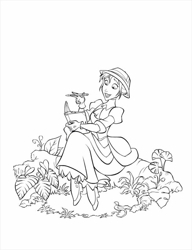 Tarzan Coloring Pages Jane Draws oebur
