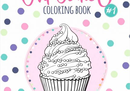 Cupcakes Coloring Book Coloring Book with Beautiful Cake Coloring, source:amazon.com