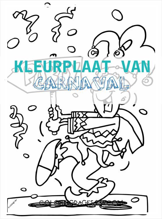 Kleurplaat Joker gaat naar Carnaval Kleurplaten kleurplaat van carnaval, source:kleurplaten.nl