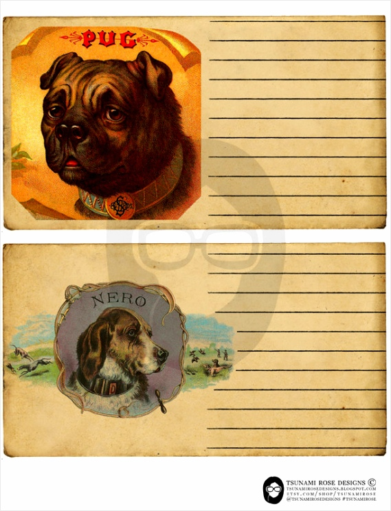 printable dog cards big elements 13 dogs waies