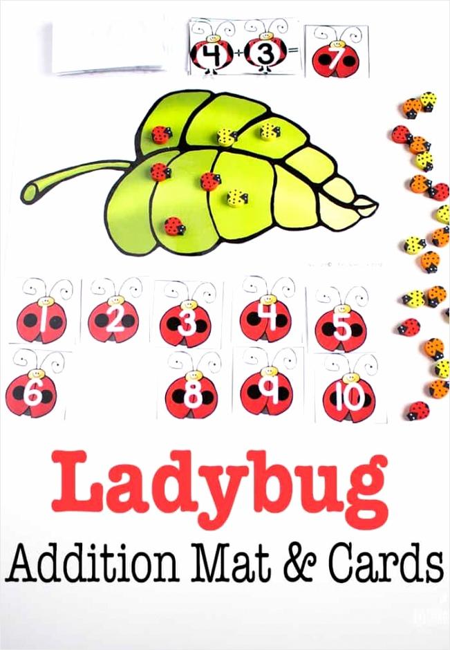 ladybug themed free printable adding to 10 activity rrytv