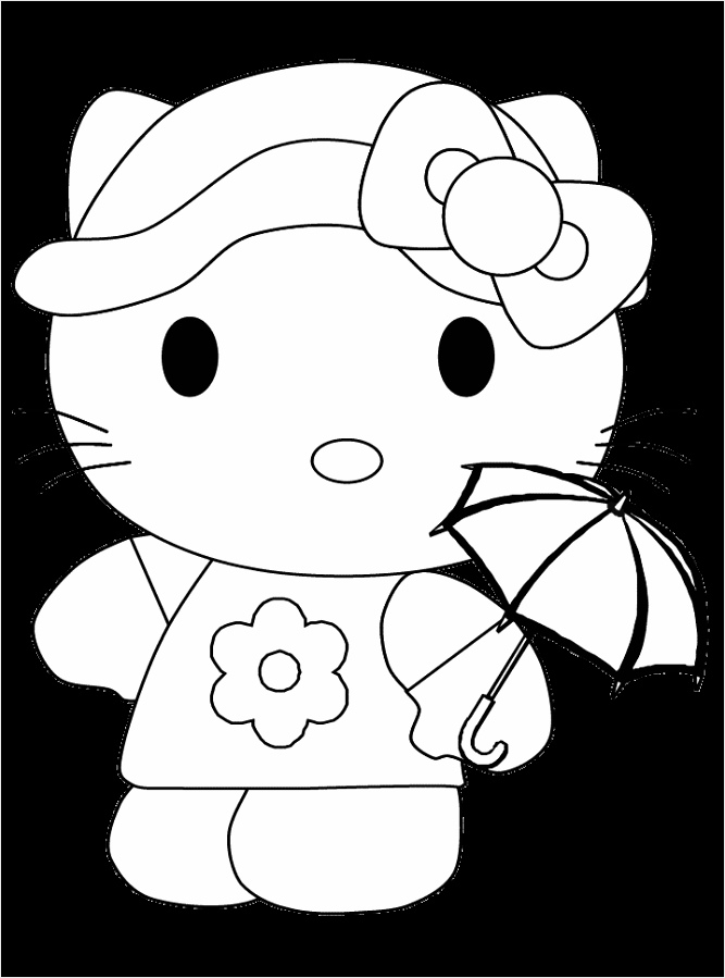coloring pages hello kitty animation wuwtt