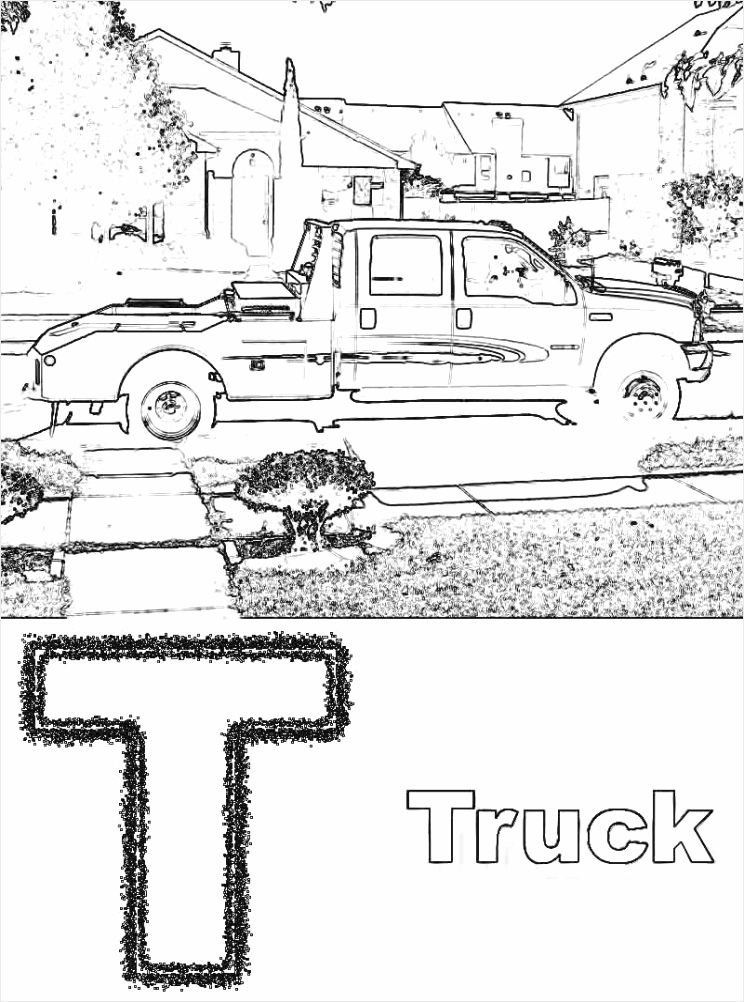 pickupuck coloring pages printable book ford free blaze monster construction motorcycle ripur