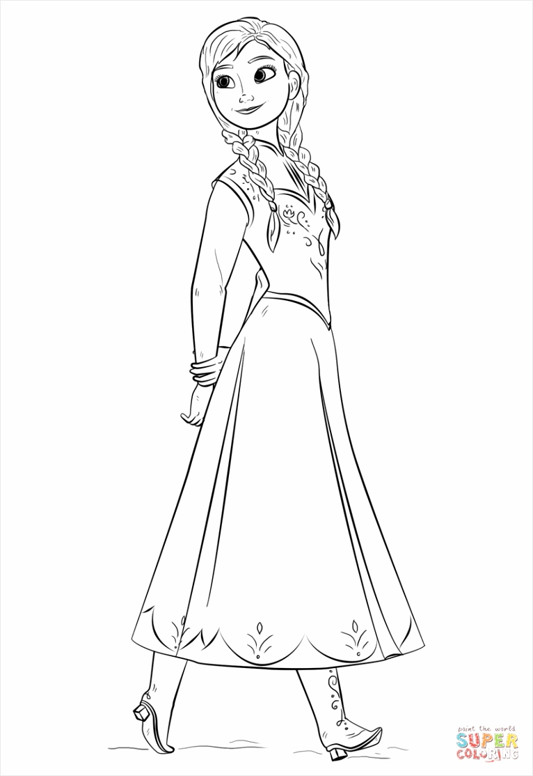 anna from frozen the movie coloring page toitt