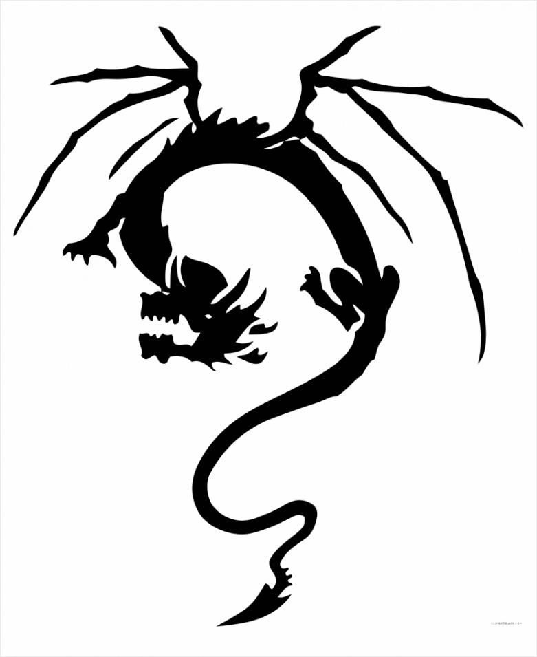 m2i8m2K9H7H7G6m2 tribal dragon animal free black white clipart images small japanese dragon tattoo iawpe