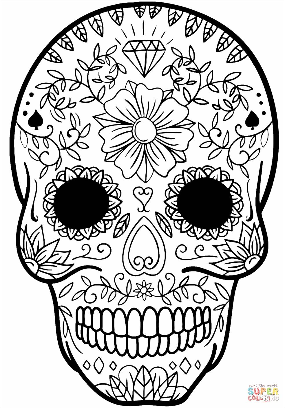 sugar skull coloringge free printableges image inspirations urmoi