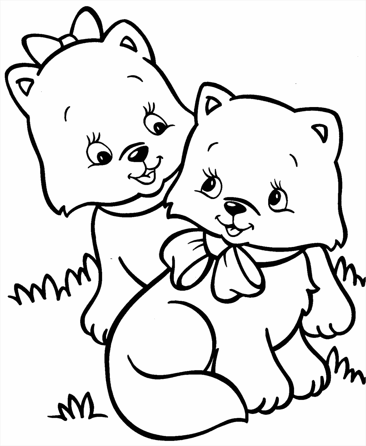 Kitten Coloring Pages yptoi