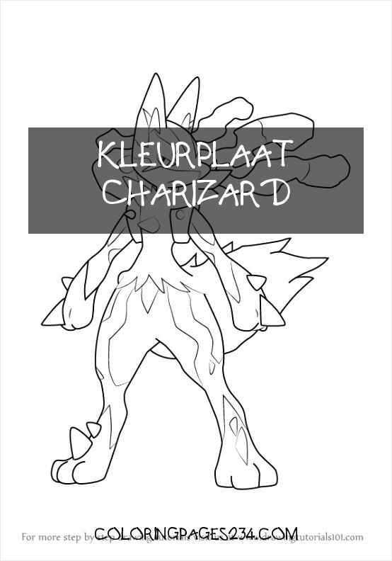 How to Draw Mega Lucario from Pokemon DrawingTutorials101 kleurplaat charizard, source:pinterest.com.au