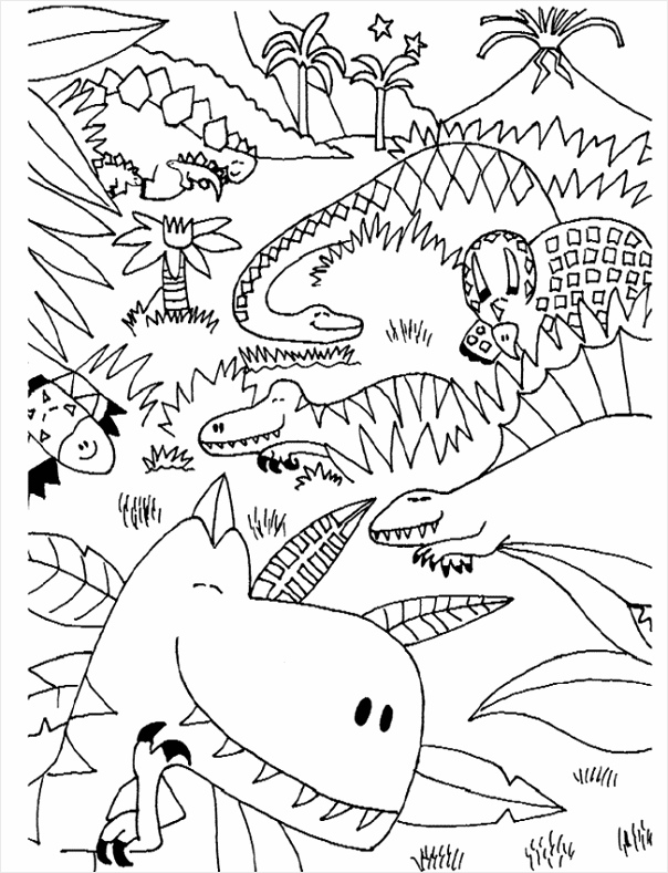 kleurplaat dinosaurus dinosaurus11 rruao